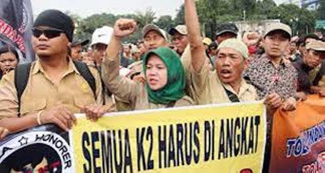Pemerintah Pastikan Angkat Honorer K2 Jadi PNS, Tapi Tidak Semua !!