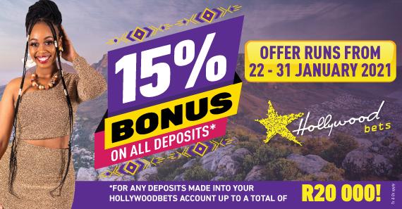 15% Deposit Bonus - Cape Town Met