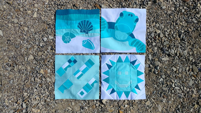 Nautical themed quilt blocks from the QAL By the Sea
