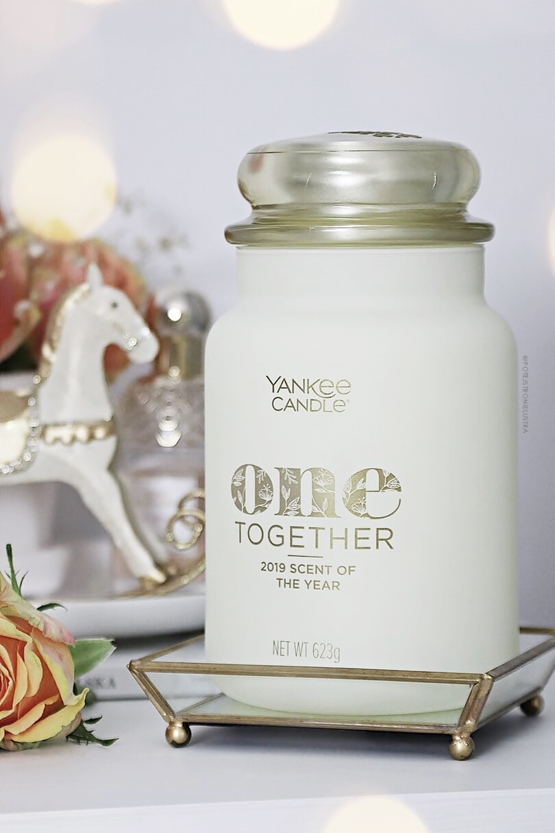 duża świeca yankee candle one together scent of the year 2019 recenzja blog
