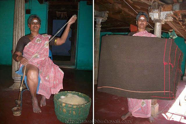 Kurumba tribes of Nilgiris - Kalangal Kurumba Woolen Blanket