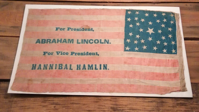 Abraham Lincoln for President Political Banner.