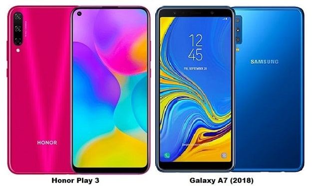 Huawei Honor Play 3 Vs Samsung Galaxy A7 (2018) Specs Comparison