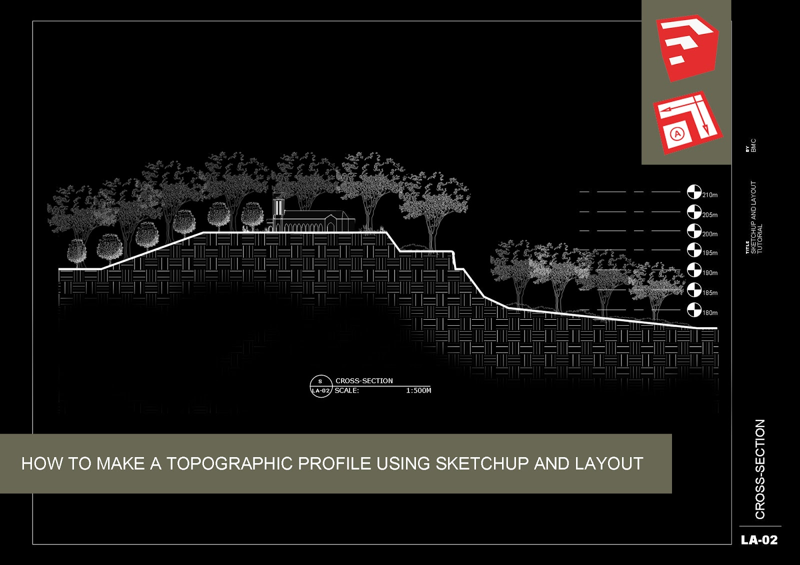 How To Make A Topographic Profile Using Sketchup And Layout