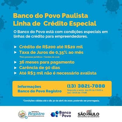 Banco do Povo Paulista disponibiliza Linha de Crédito Especial para auxiliar empreendedores