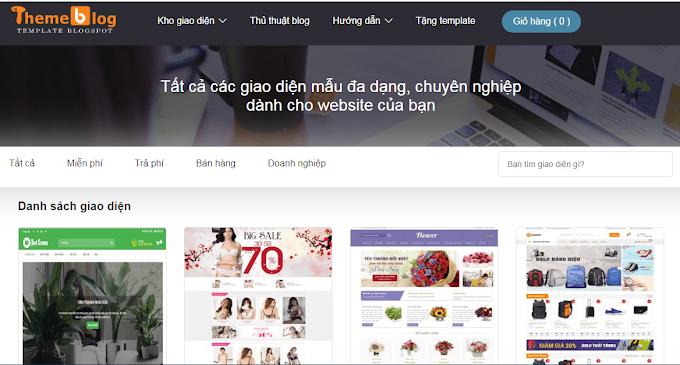 Giới thiệu trang web bán template blogspot đẹp