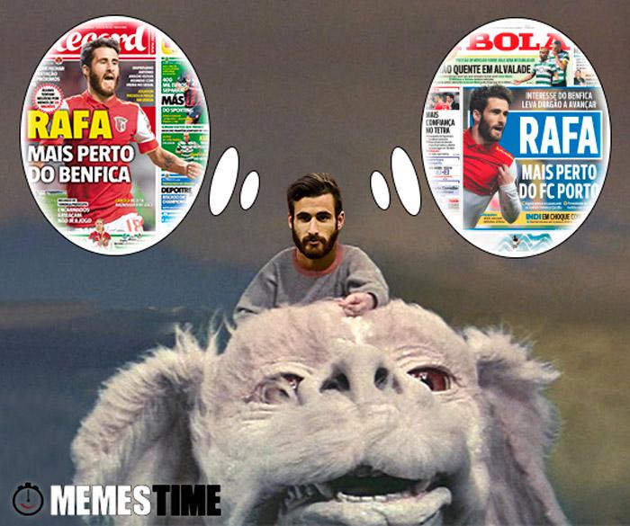 Memes Time Rafa Silva Rafa mais perto do Porto e Rafa mais perto do benfica – The NeverEnding Story – Parte 2