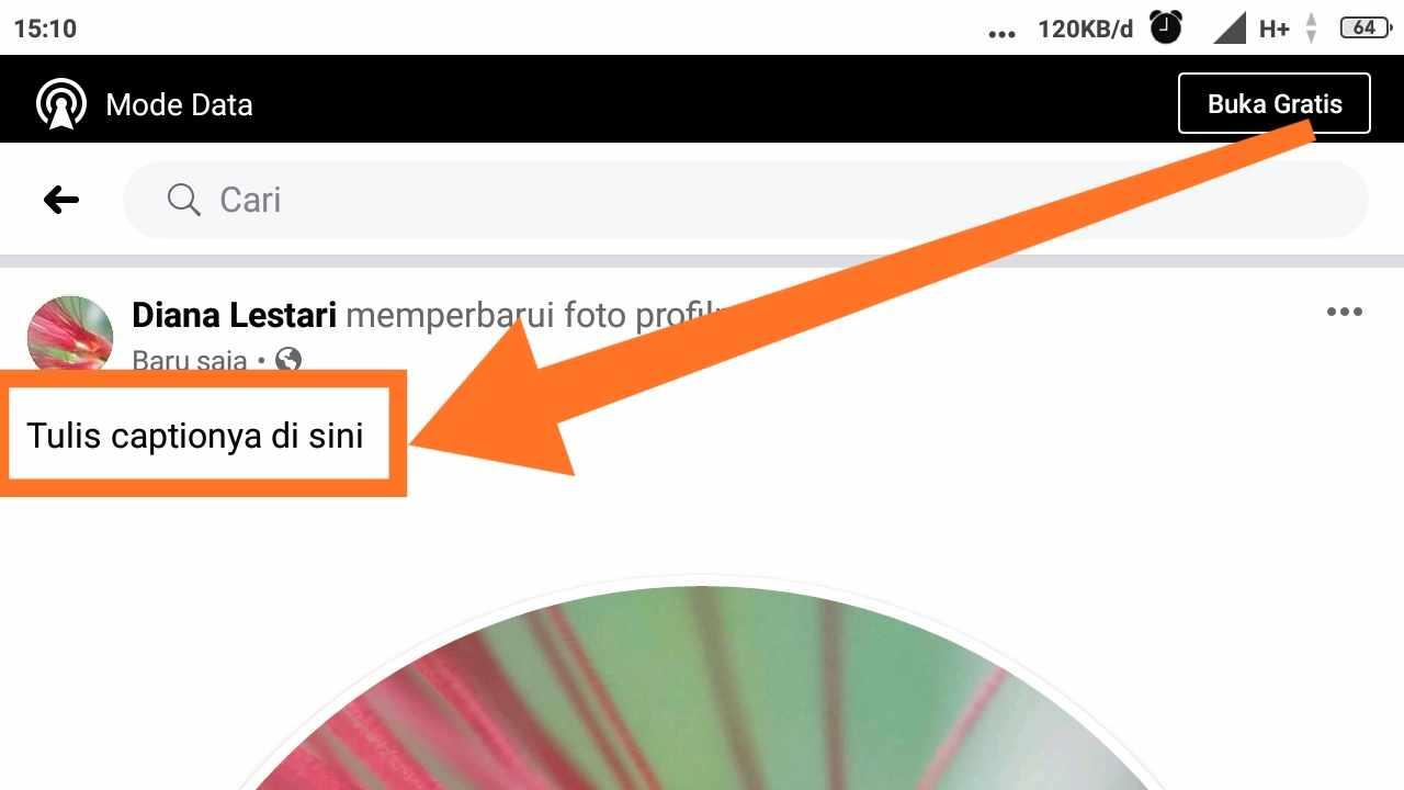 Cara menghapus foto profil Facebook