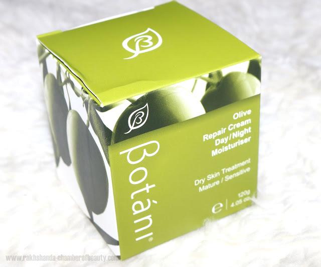 Botani Olive Repair Moisturising Cream Review, Indian beauty blogger, Chamber of Beauty