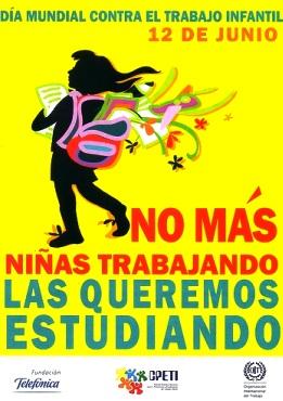 Ilustración alusivo al Día Mundial contra el Trabajo Infantil