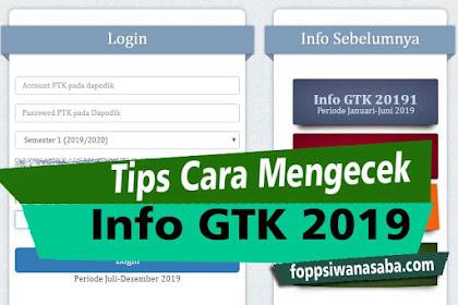 Tips Untuk Sukses Login Info GTK 2019