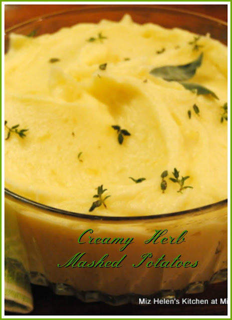 Creamy Herb Mashed Potatoes at Miz Helen's Country Cottage