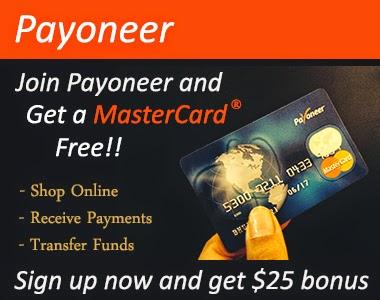 Signup for Payoneer Mastercard