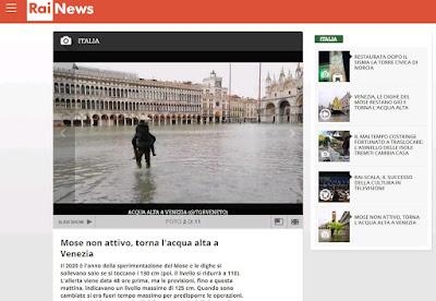 Mose non attivo, torna l'acqua alta a Venezia
