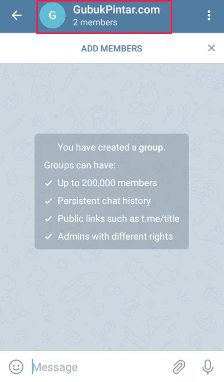 nama grup telegram