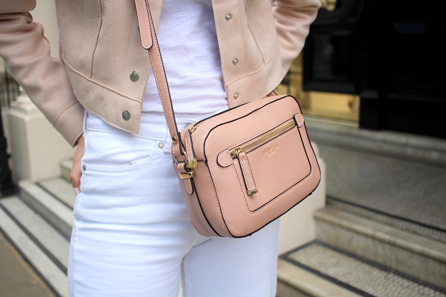 carvela crossbody bag pastel pink peexo