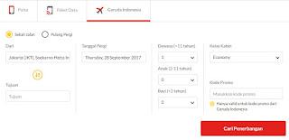 Menilik Filter untuk Cari Tiket Garuda di Blanja.com Termurah