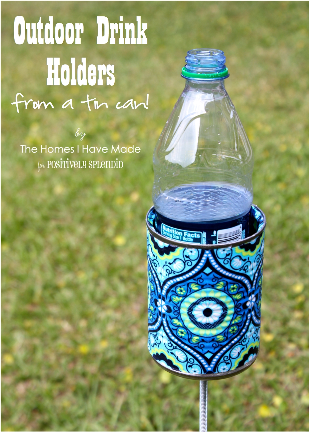 Save - Outdoor Drink Holder Tutorial - Positively Splendid {Crafts, Sewing