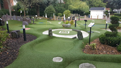 The Ryder Legends Mini Golf course at The Belfry