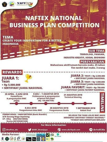 Business Plan Competition di UB Terbaru