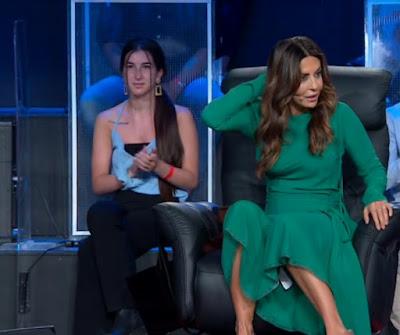 Sabrina Ferilli vestito verde tu sì que vales 25 settembre