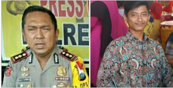 Kapolres Asahan AKBP Faisal Napitupulu dan Fernando Andi Sahputra Kabid Kominfo di BEM Fakultas Hukum UNA.