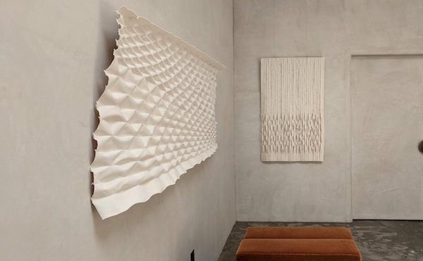 Textile sculptures by Mary Little at the beautiful Estudio Persona  Space