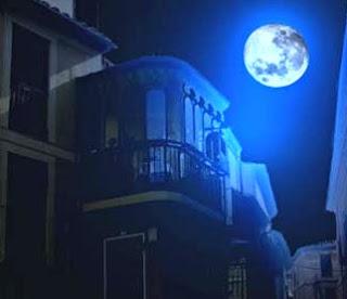 Dibujo de una luna en la noche