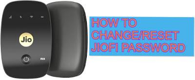 Jiofi pasword change