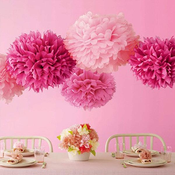 Pompones de Papel de Seda para decorar fiestas, cumpleaños y bodas