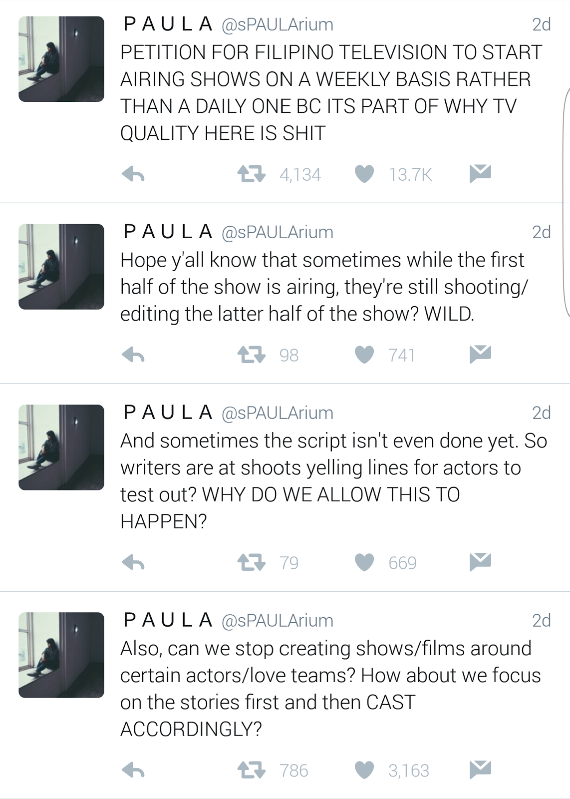 Fashion pulis tweet scoop bela padilla responds to netizen tweet scoop bela padilla responds to netizen lambasting system of producing teleseryes in the local scene ccuart Images