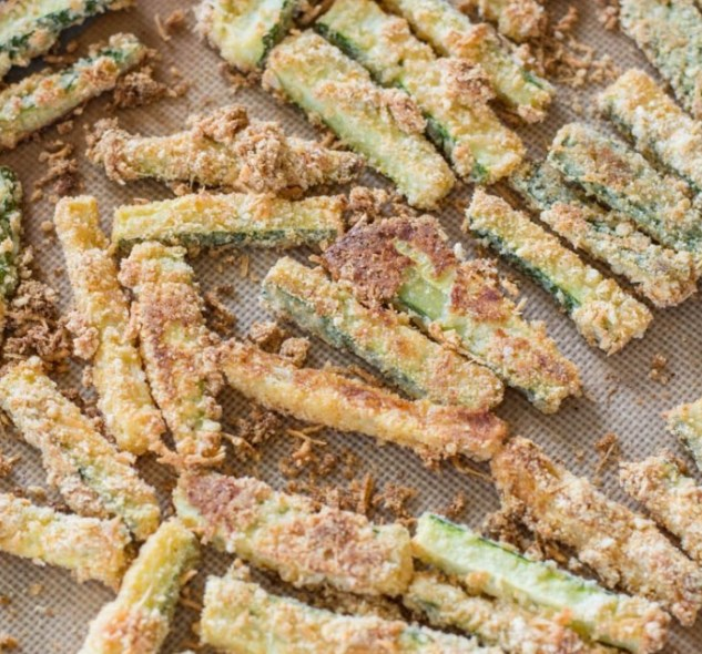 CRISPY ZUCCHINI FRIES (KETO + LOW CARB) #healthy #ketodiet