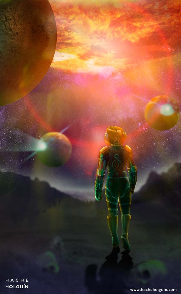 Ilustración y diseño de portada para el libro El futuro de Ismael por Hache Holguín