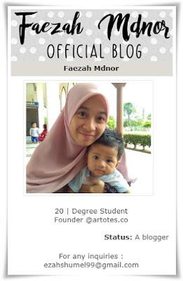 Sahabat blogger pilihan Starlavenderluna : Faezah Mdnor