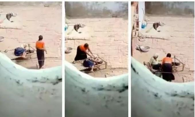 बहू ने बुज़ुर्ग महिला को बुरी तरह पीटा; हरियाणा सीएम ने शेयर किया वीडियो, देखे ये वीडियो ।