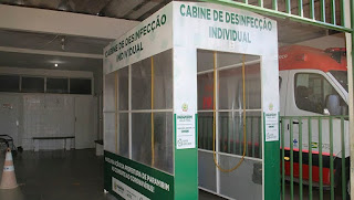 Paramirim/BA: O Hospital Aurélio Rocha ganha  uma cabine de desinfecção para evitar a contaminação pela Covid-19