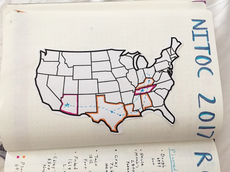 Adulthood The Final Frontier Travel - Blank map of the us travel log