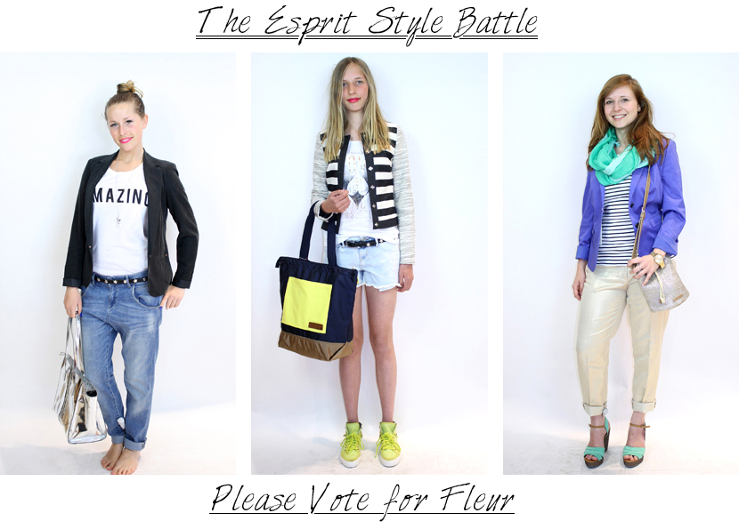 Give-Away; Do I have your Vote for the Esprit Style Battle by La Vie Fleurit!?  Win, Giveaway, Style, Styling, Photography, Clothing, Collection, Brand, Fashion, Stem, espritstylebattle, blog, blogger, fasion, mode, Glma*It, glam*it, Esprit, styling, look, help, dtv, stemmen, winnen, winactie, Fleur Feijen