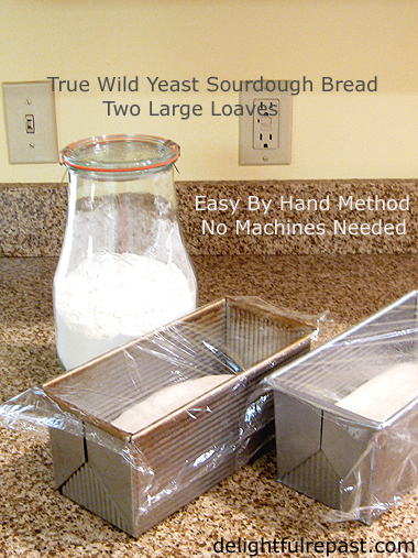 Sourdough Sandwich Bread - Two Loaves - Wild Yeast Only / www.delightfulrepast.com