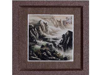 H.H.第三世多杰羌佛的微型畫作  「山泉古寨」
