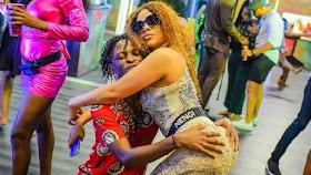 BBNaija housemates: Kiddwaya, Lilo, Wathoni, Eric, Tolanibaj kissed during first Saturday night party in Big Brother Naija Season 5 lockdown