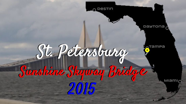 St Petersburg Sunshine Skyway Bridge 2015, Florida USA