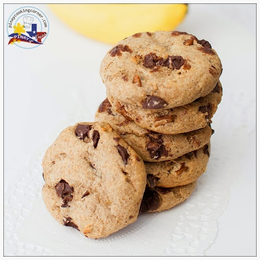 Pinay In Texas Cooking Corner: Whole Wheat Banana Chocolate Chip Cookies
