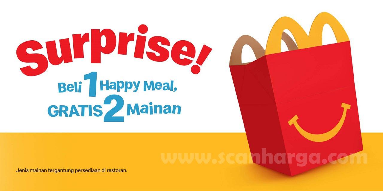 McDonalds Surprise! Beli 1 Happy Meal Gratis 2 Mainan