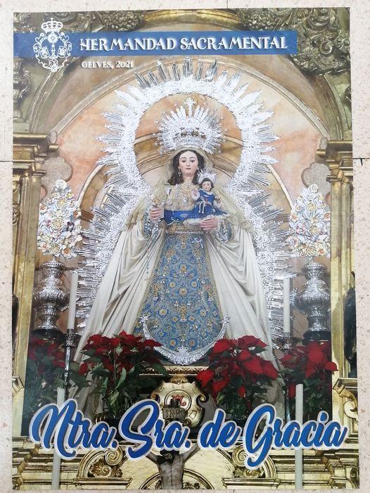 Cartel de los Cultos a Ntra Sra De Gracia 2021, patrona de Gelves