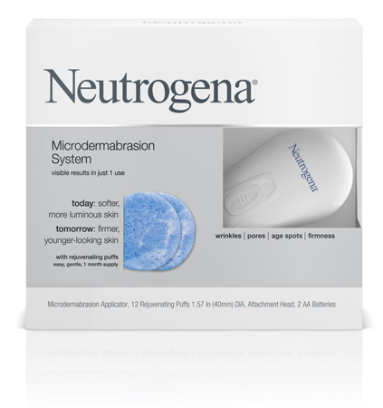 image of the packaging of Neutrogena's Microdermabrasion System