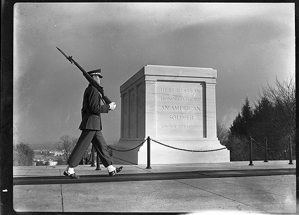 Tomb Of Unknown Soldier. at Arlington National Cemetery. Angel's Glow. marchmatron.com