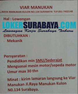 Loker Surabaya Terbaru di Viar Manukan Juni 2019