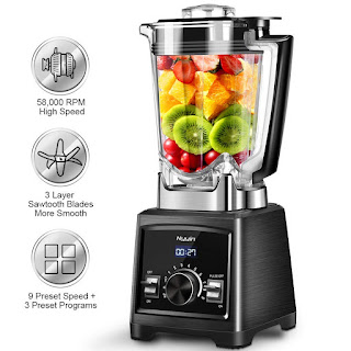Professional Blender, 1450W Smoothie Blender with 72 Oz BPA-Free Pitcher,