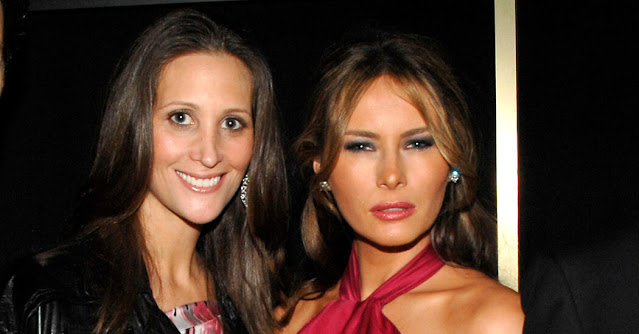 US First Lady Melania Trump and Stephanie Winston Wolkoff